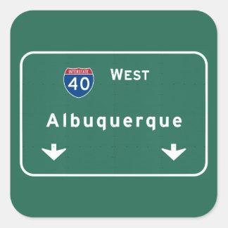 Albuquerque New Mexico nm Interstate Highway : Square Sticker