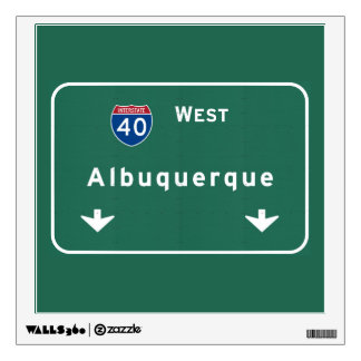 Albuquerque New Mexico nm Interstate Highway : Wall Sticker