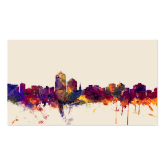 Albuquerque New Mexico Skyline Double-Sided Standard Business Cards (Pack Of 100)