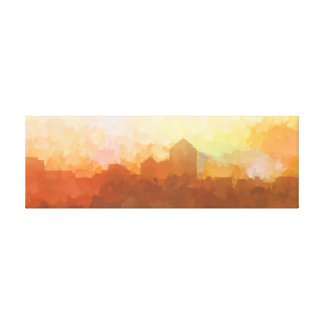 Albuquerque New Mexico Skyline IN CLOUDS Canvas Print