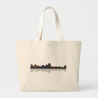 Albuquerque, New Mexico Skyline Large Tote Bag