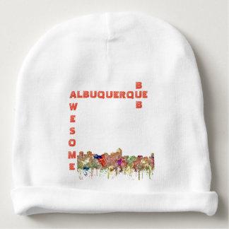 Albuquerque New Mexico Skyline SG-Faded Glory Baby Beanie