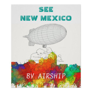 Albuquerque New Mexico Skyline-SG Poster