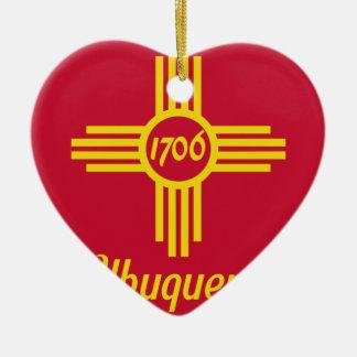 Albuquerque, New Mexico, United States flag Ceramic Ornament