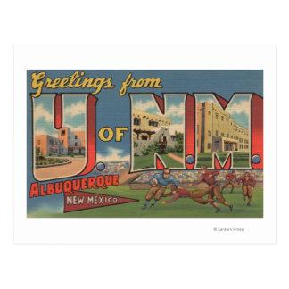Albuquerque, New México - universidad del Tarjetas Postales