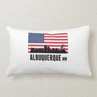 Albuquerque NM American Flag Throw Pillow
