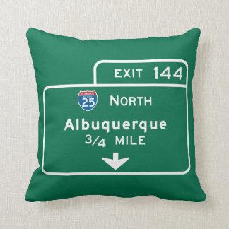 Albuquerque, NM Road Sign Pillow