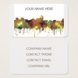 Albuquerque, NM Skyline - SG - Safari Buff Business Card