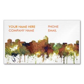 Albuquerque, NM Skyline - SG - Safari Buff Magnetic Business Card