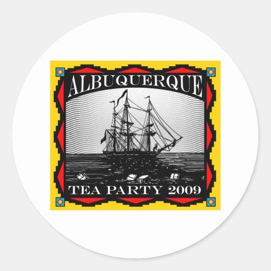 Albuquerque, NM Tea Party - Classic Round Sticker