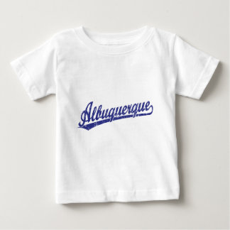 Albuquerque script logo in blue baby T-Shirt