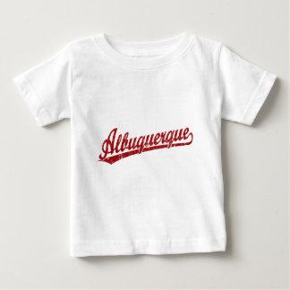 Albuquerque script logo in red baby T-Shirt
