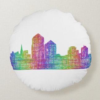 Albuquerque skyline round pillow