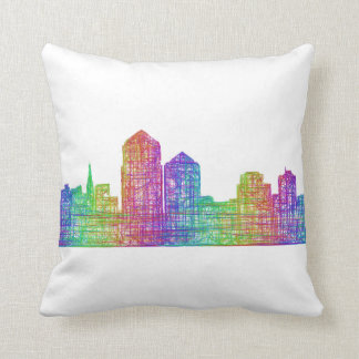 Albuquerque skyline throw pillow