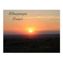 Albuquerque sunset postcard