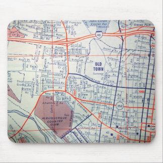 ALBUQUERQUE Vintage Map Mouse Pad
