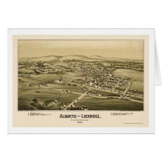Alburtis y Lockridge, mapa panorámico del PA - Tarjeta De Felicitación