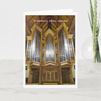 Albury church organ card (vertical)