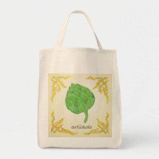alcachofa con diseño clásico de las hojas bolsa tela para la compra