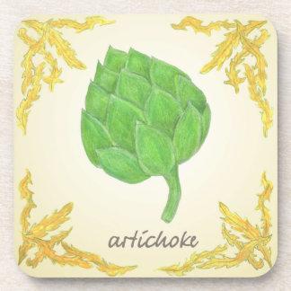 alcachofa con diseño clásico de las hojas posavasos de bebidas