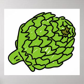 Alcachofa de globo impresiones