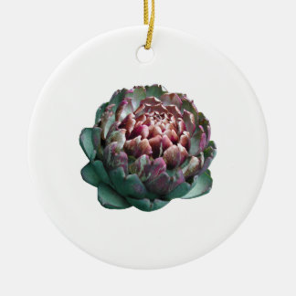 Alcachofa en blanco ornamento de navidad