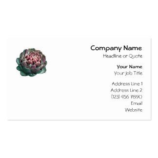Alcachofa en blanco plantilla de tarjeta personal