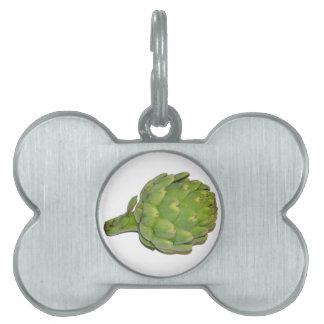 Alcachofa Placas De Nombre De Mascota