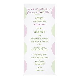 """Alcachofas púrpuras que casan el menú invitación 4"""" x 9.25"""""""