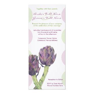 Alcachofas púrpuras que casan la invitación 3