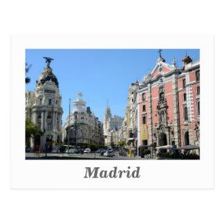 Alcala and Gran Via Street, Madrid Postcard
