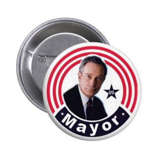 Alcalde 2009 Bloomberg Button Pin Redondo De 2 Pulgadas