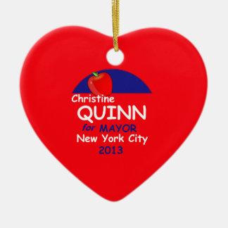 Alcalde 2013 de Quinn NYC Ornamentos De Reyes