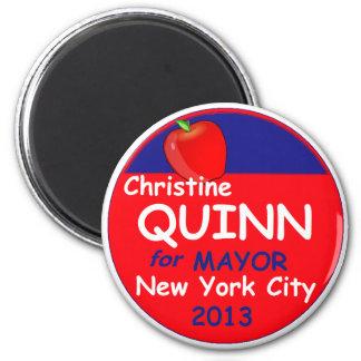 Alcalde 2013 de Quinn NYC Imán Redondo 5 Cm