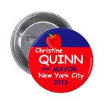 Alcalde 2013 de Quinn NYC Pin