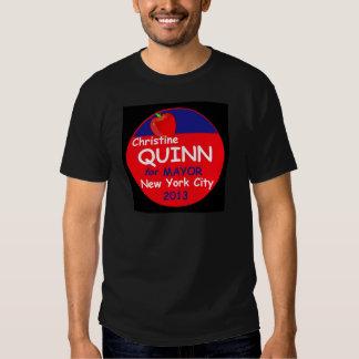 Alcalde 2013 de Quinn NYC Playera