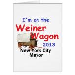 Alcalde 2013 de Weiner NYC Felicitaciones