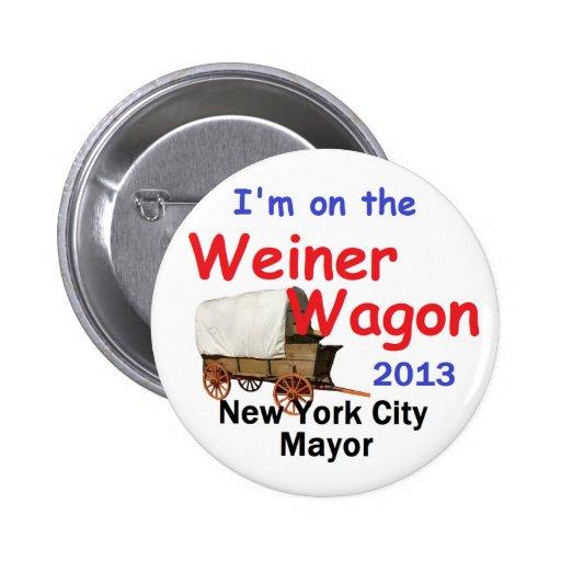 Alcalde 2013 de Weiner NYC Pin