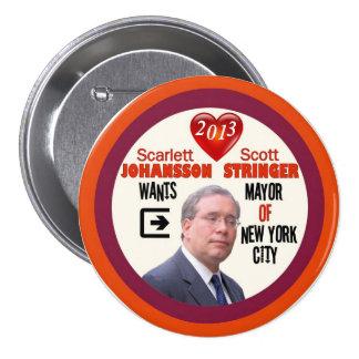 Alcalde 2013 del larguero NYC de Scott Pin