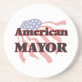 Alcalde americano posavasos de arenisca