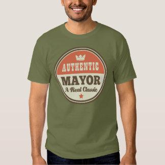 Alcalde auténtico regalo (divertido) playera