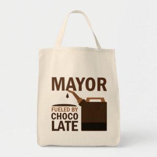 Alcalde chocolate (divertido) bolsa tela para la compra