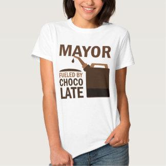 Alcalde chocolate (divertido) camisas