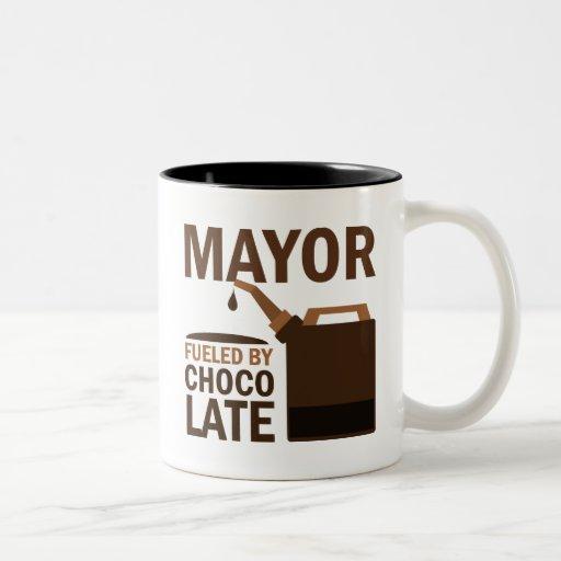 Alcalde chocolate (divertido) tazas