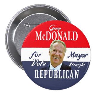 Alcalde de George McDonald NYC en 2013 Pin Redondo De 3 Pulgadas