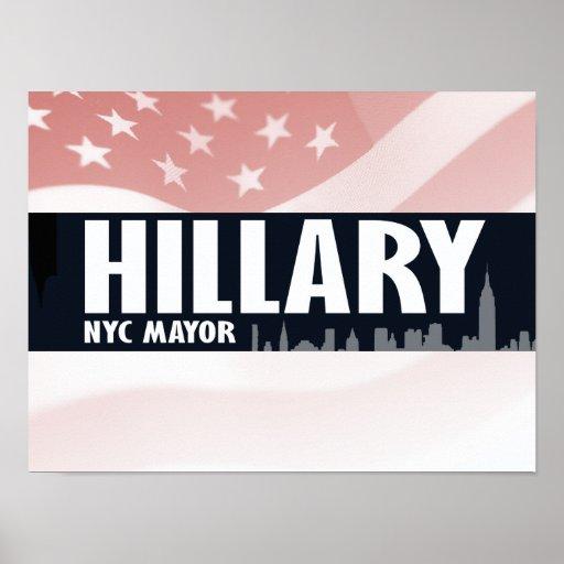 ALCALDE DE HILLARY NYC - .PNG POSTERS