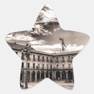 Alcalde de la plaza de León Calcomania Forma De Estrella