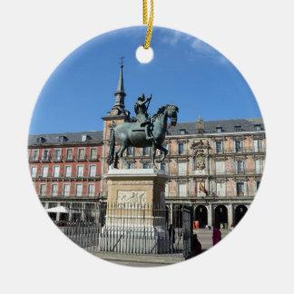 Alcalde de la plaza, ornamento de Madrid Ornamentos Para Reyes Magos