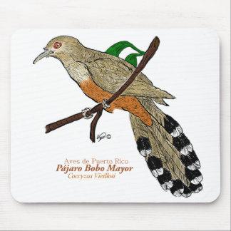Alcalde de Pájaro Bobo/cuco puertorriqueño del lag Alfombrilla De Ratón