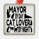 Alcalde del amante del gato ornamentos para reyes magos